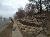 Burnsville Boulder Wall